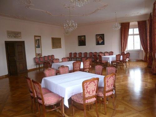 Beispiel: Barocker Festsaal im 2.OG, Foto: Schloss Weiterdingen.