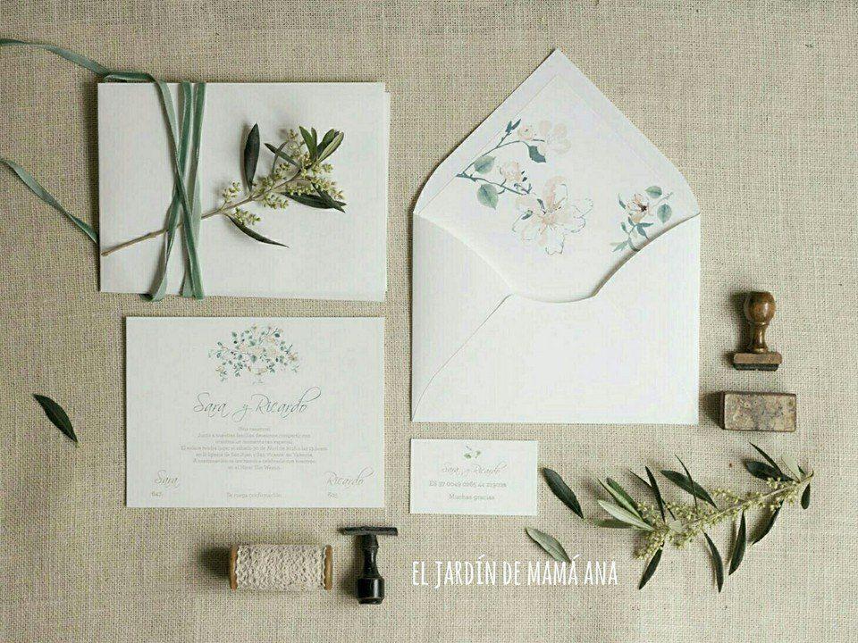 Diseño de papelería para bodas.  Especiales y diferentes por El Jardín de mamá Ana.