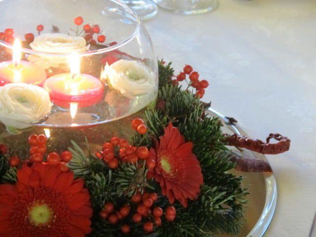 centrotavola invernale natalizio