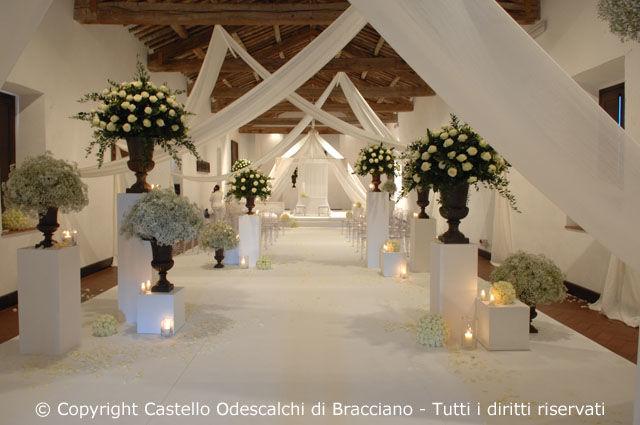 Castello Odescalchi di Bracciano Sala del Granaio per le cerimonie Granary Hall for ceremony
