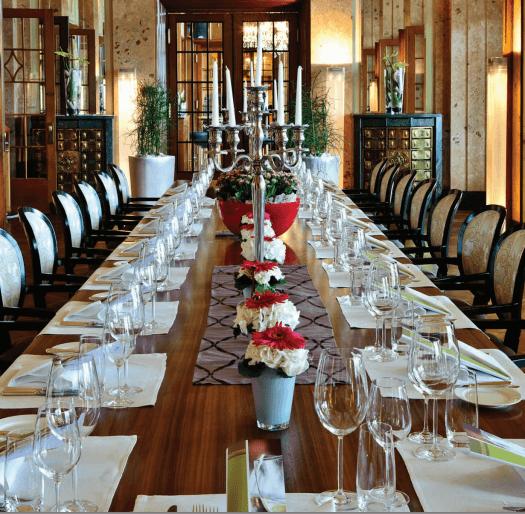 Beispiel: Hochzeitstafel, Foto: Art Deco Hotel Montana.