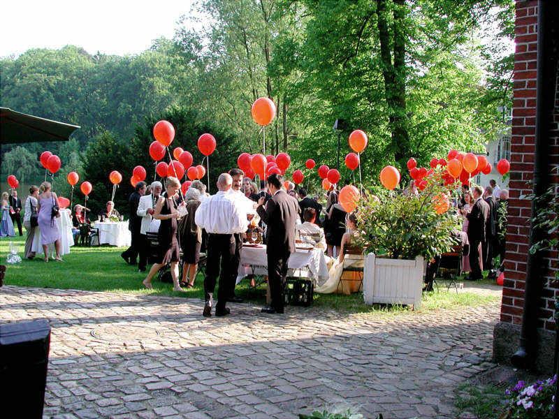 Beispiel: Hochzeitsempfang, Foto: Schloss Reinbek.