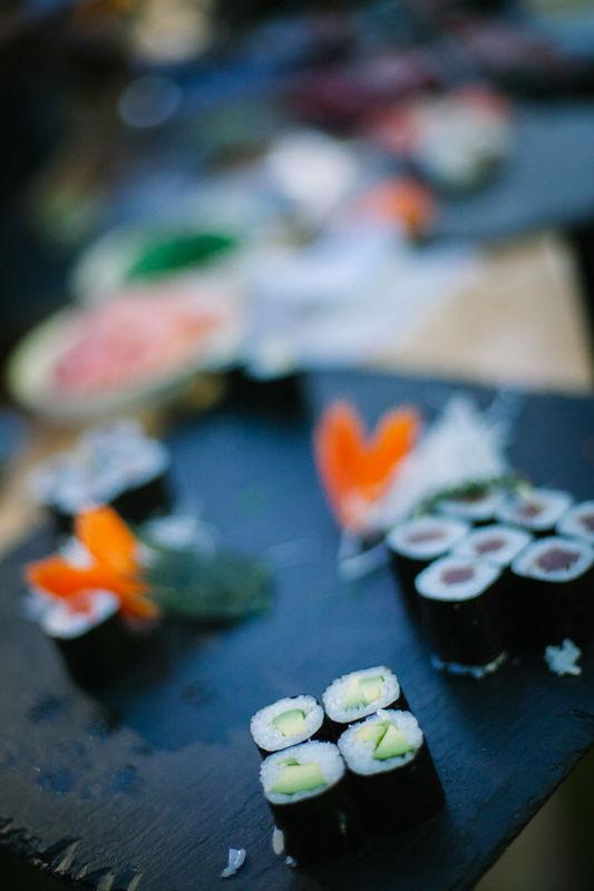 Puesto de sushi