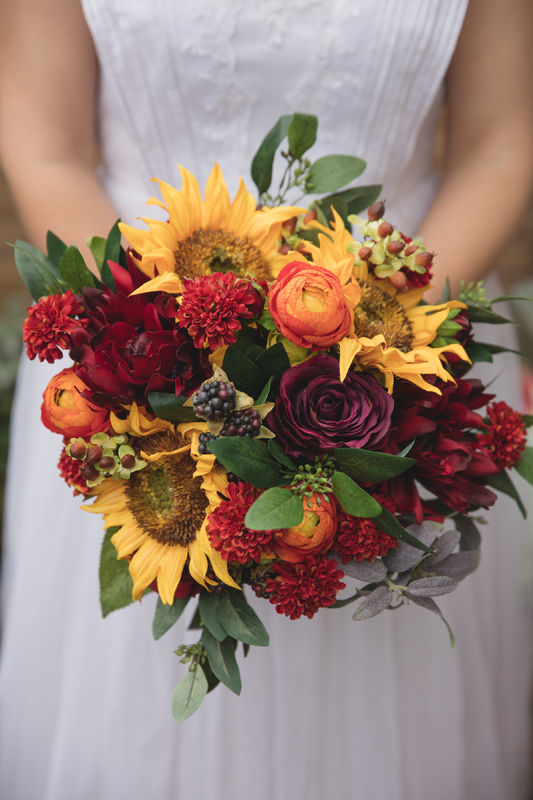 artificial flower bouquet autumn