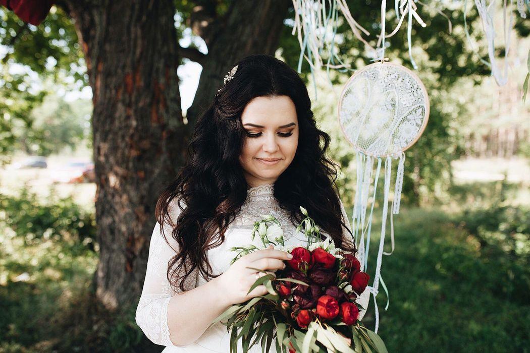 нежная и милая невеста Наташенька макияж и причёска - Нелли Шварц фотограф - Софи Беляева украшение в причёску - Татьяна Поискова