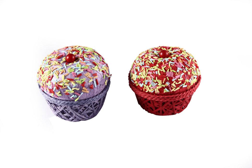 Cajita en Forma de Pastel CupCake Se sirve surtido en colores