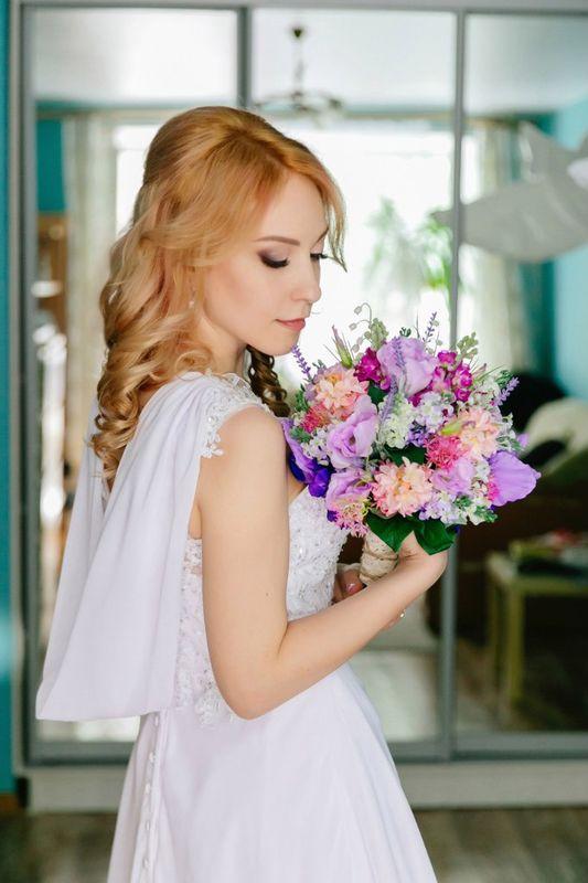 макияж и причёска для очаровательной невесты Анюты фотограф Анастасия Гусарова