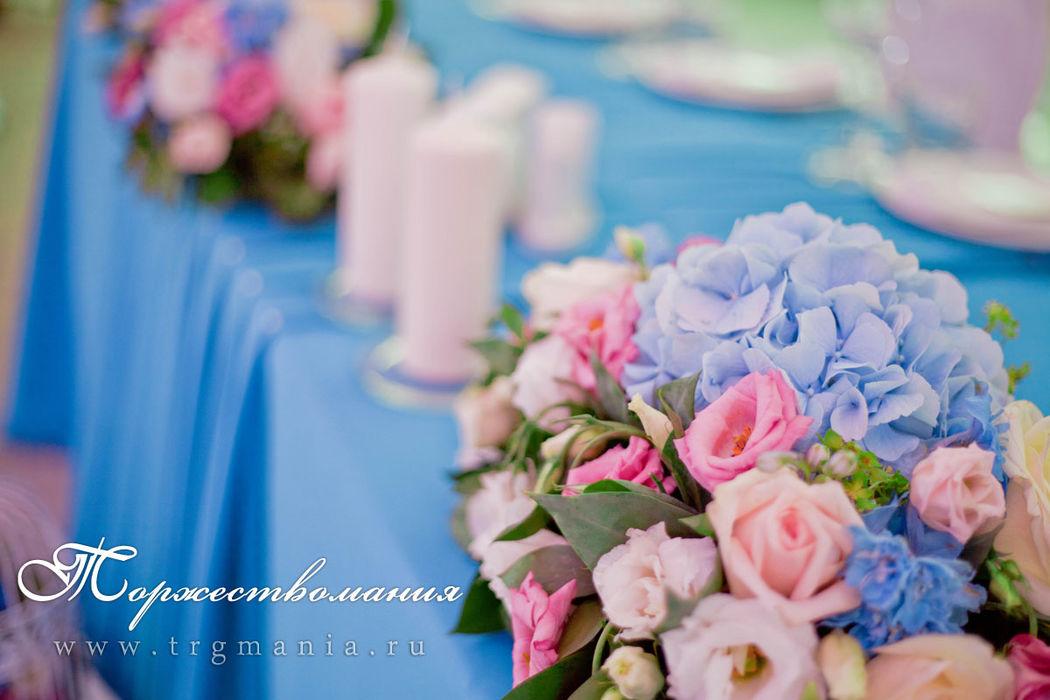 свадьба в модном цвете от студии декора и флористики торжествомания