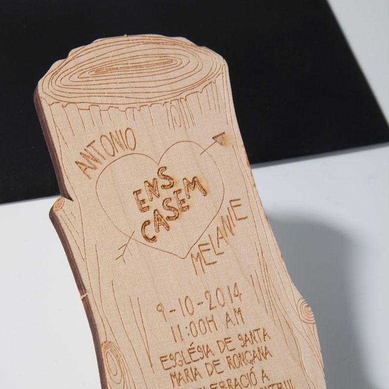 Invitación madera