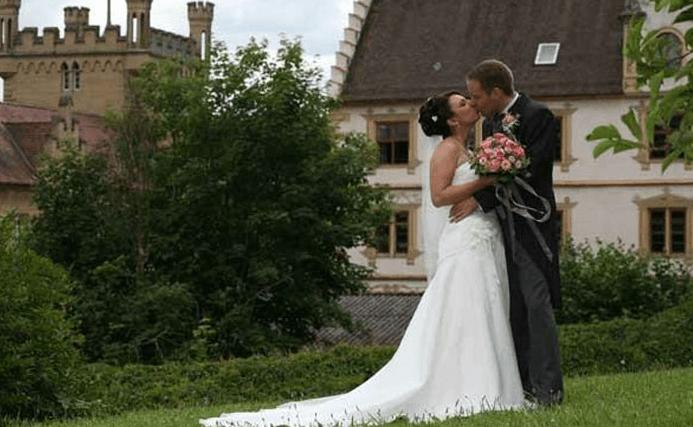 Beispiel: Brautpaar, Foto: Schloss Weitenburg.