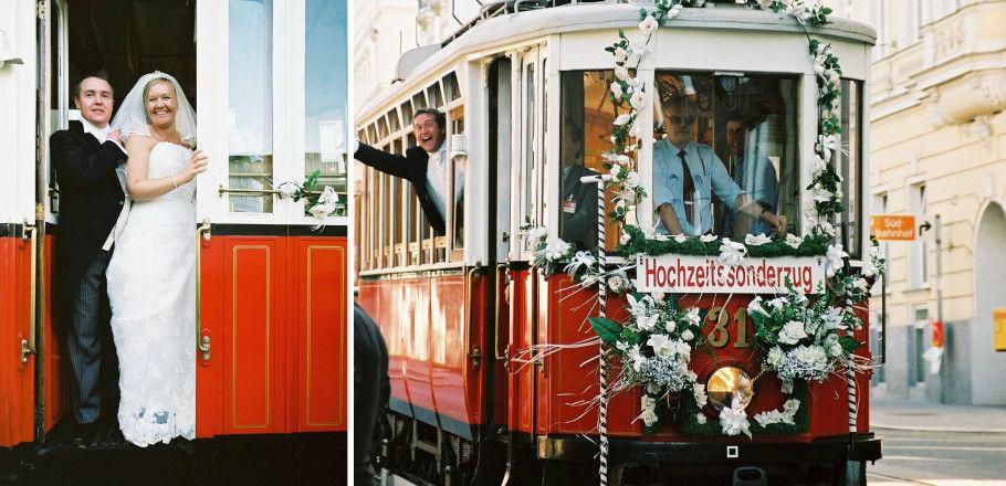 Beispiel: Hochzeitssonderzug, Foto: Avorio Hochzeitsorganisation.