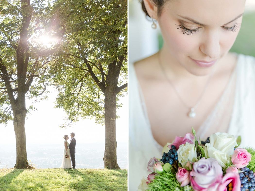 Porträt der Braut verbunden in einer Collage