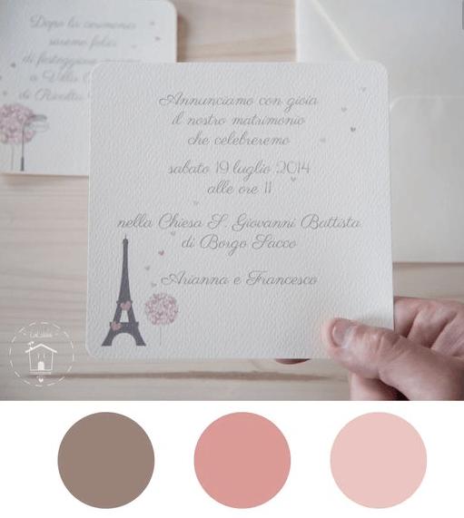 Partecipazione di un matrimonio ambientato a Parigi
