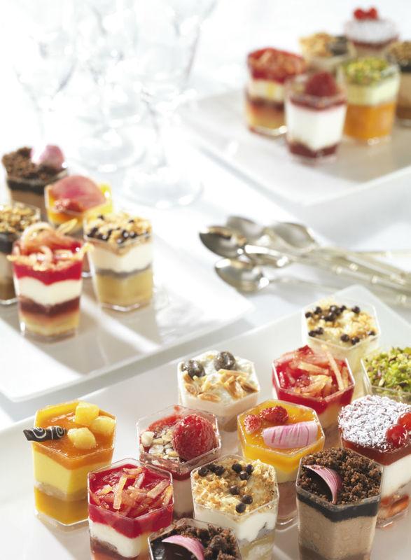 Cocktails sucrés - Mini-verrines - Pâtisserie La Romainville