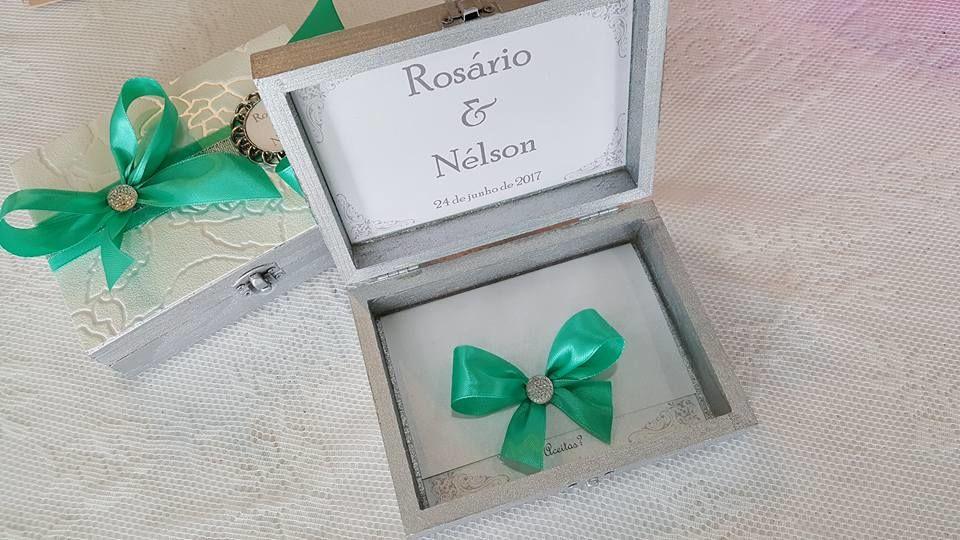 Caixas convite para Padrinhos de Casamento - interior
