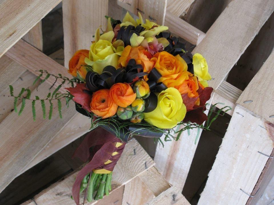 Bouquet de Noiva Laranja e Chocolate