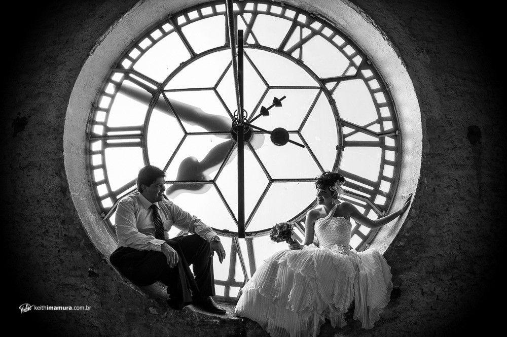 No relógio da Catedral