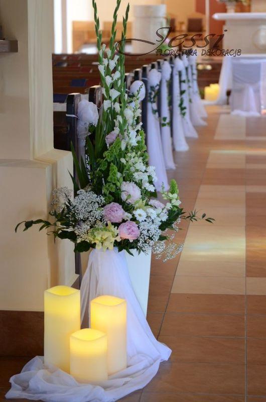 dekoracja kościoła. więcej na FB Jessi - florystyka, dekoracje