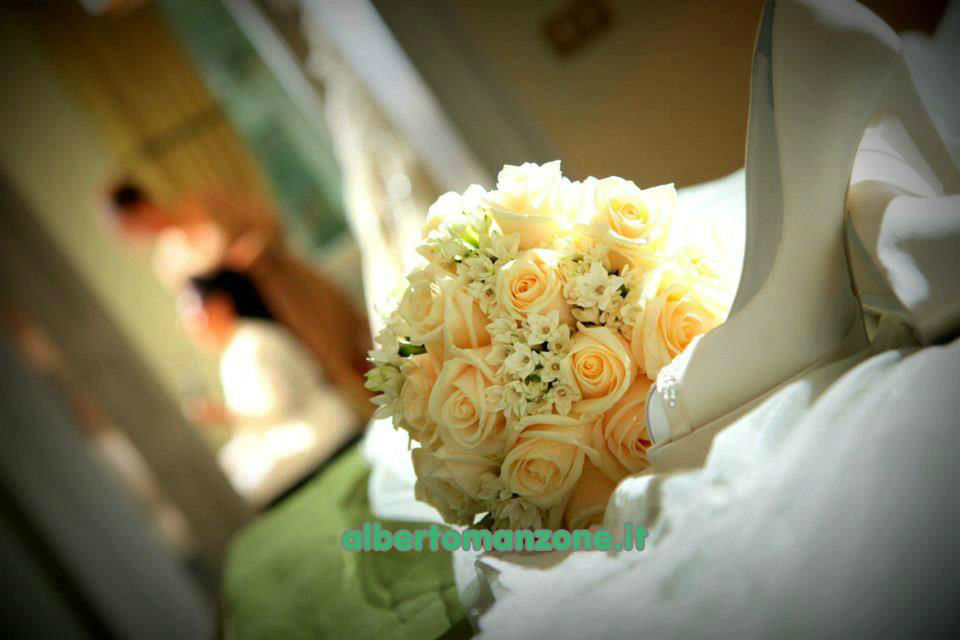 rose avorio vendela e fiori d'arancio