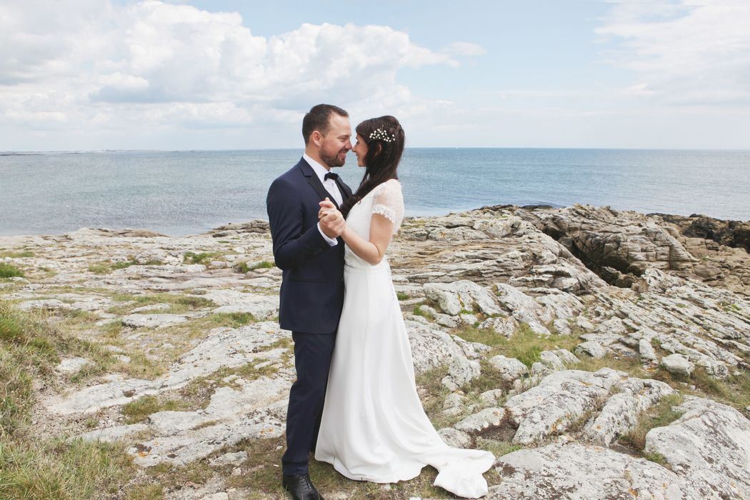 Mariés sur la côte