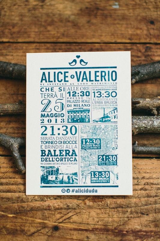 Alice & Valerio | Weddign Stationery Carta Cartiere Paudice Nereo – Cartone Vegetale 510g/m Stampa Letterpress un colore