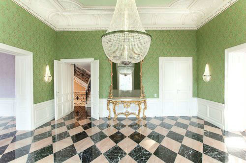Beispiel: Grüner Salon, Foto: Palais Sanssouci.