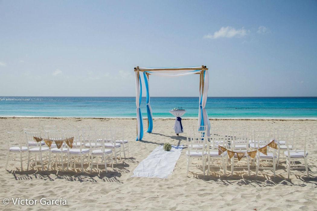 gazebos en la playa