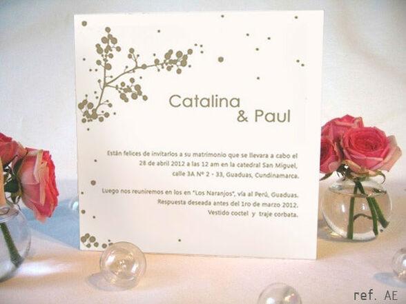 G_AE Invitaciones para matrimonio sencillas, sobrias & elegantes
