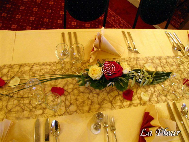 Beispiel: Tischdekoration, Foto: La Fleur.