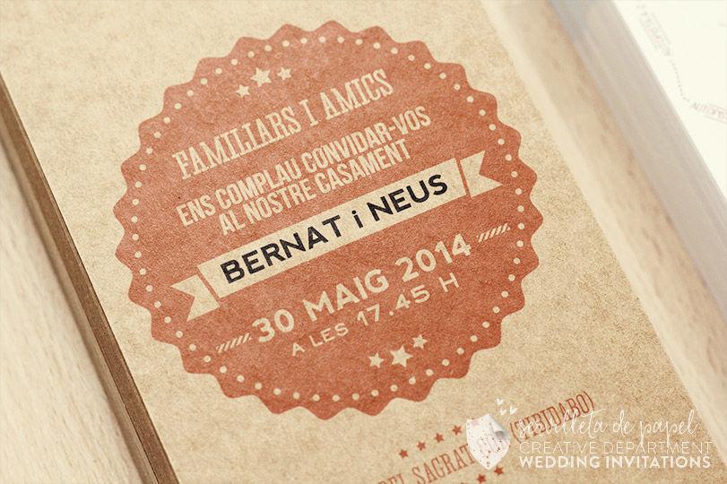 Invitación de boda Bernat + Neus   www.servilletadepapel.es