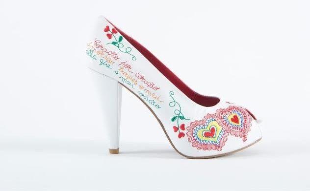Sapatos Namorar Portugal Flor de Laranjeira - Branco