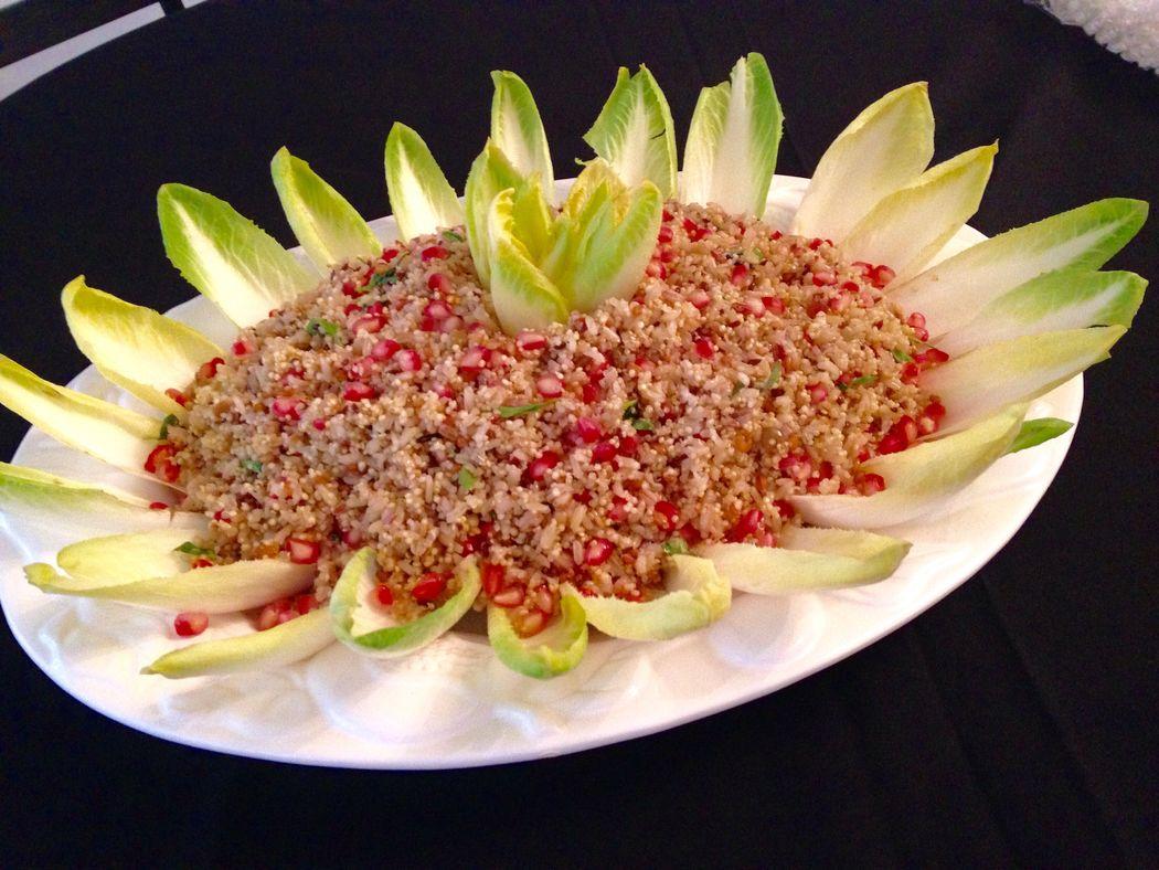 Salada Multigrãos com romã e endívias