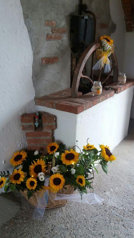 Composizione rustica con girasoli  di L'Incantesimo fiorito