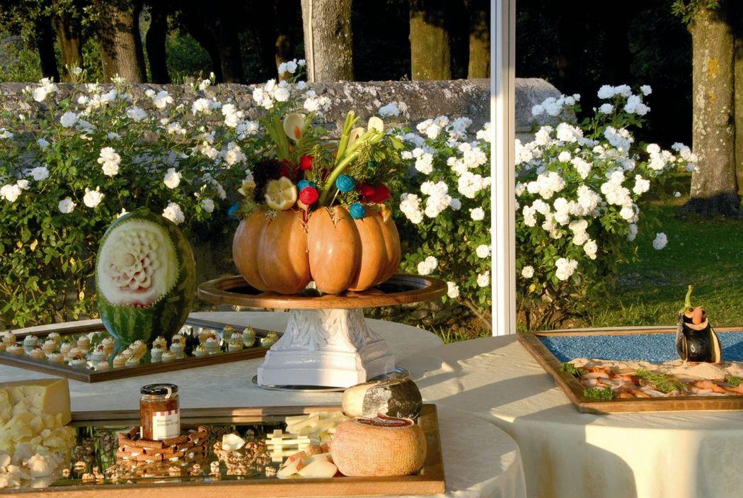 Park Hotel Villa Grazioli: Buffet nel giardino