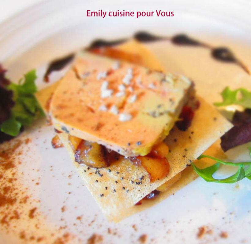 Foie gras mi cuit et pommes confites