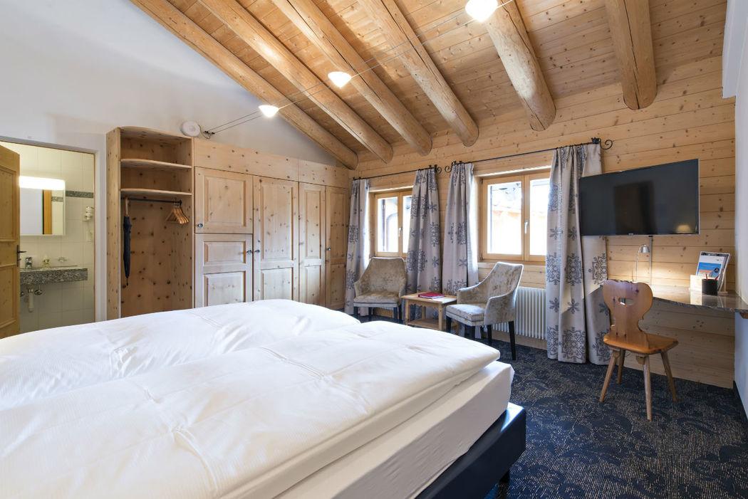 Beispiel: Beispiel für das Doppelzimmer, Foto: Hotel Chesa Rosatsch.