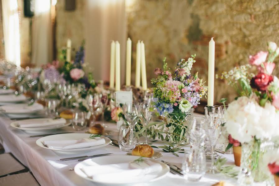 ©WinterBirdsPhotography Château du Croisillat, table des mariés
