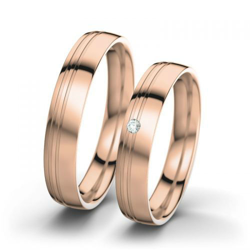 Beispiel: Maria & Josef - Rotgold, poliert,  Foto: 21 Diamonds.