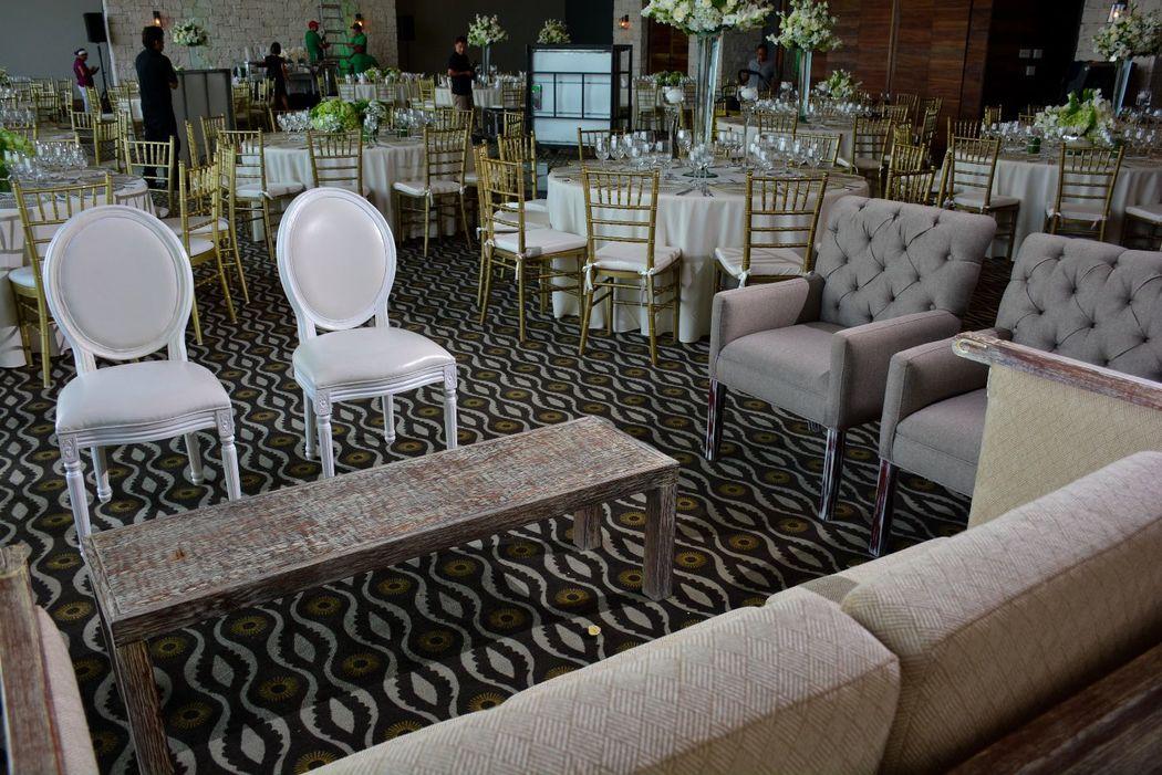 La combinación de muebles luce espectacular!
