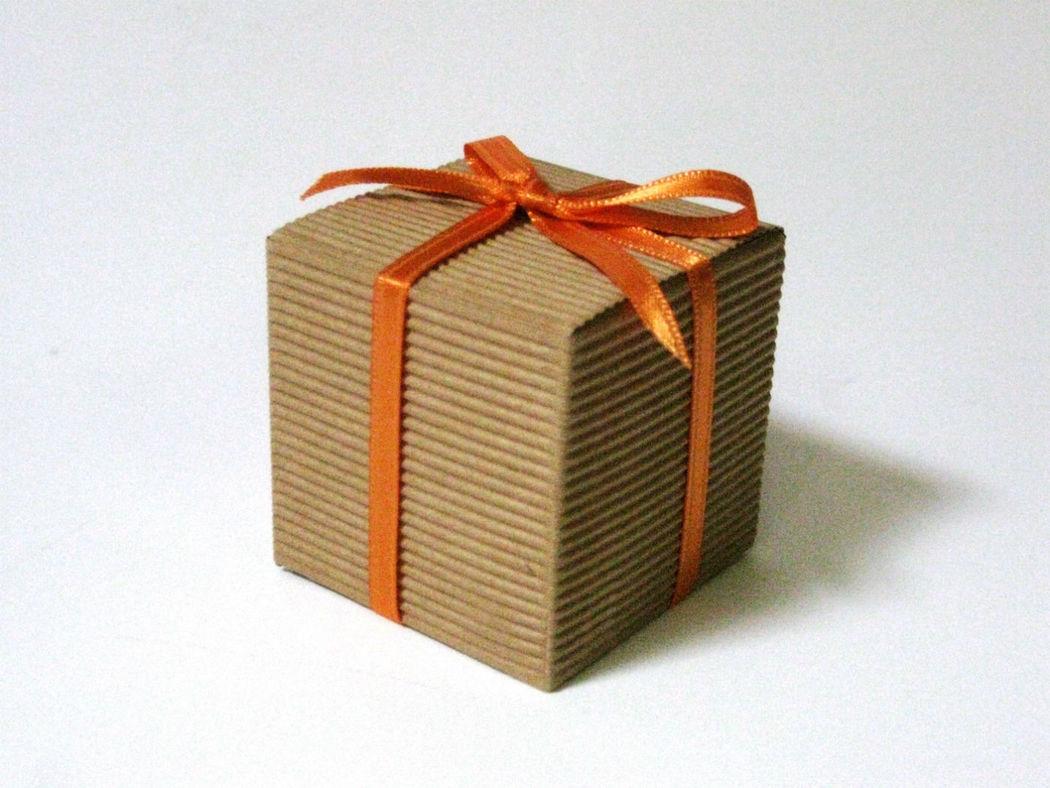 Scatolina cubo cartone ondulato
