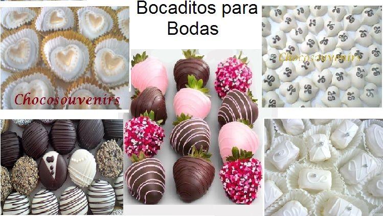 Amplia variedad de bocaditos  de chocolate para su dulce evento.