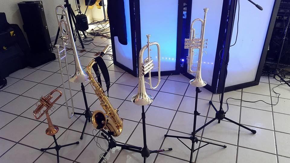 5 instrumentos de viento durante la cena