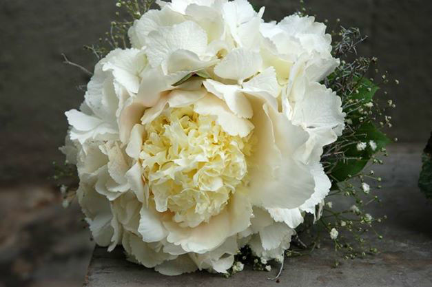 Beispiel: Weiße Wildrose, Foto: Frau Rose Floristik.