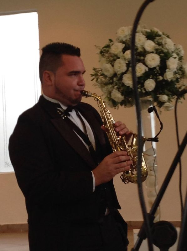 Nosso saxofonista Silas Cardoso.