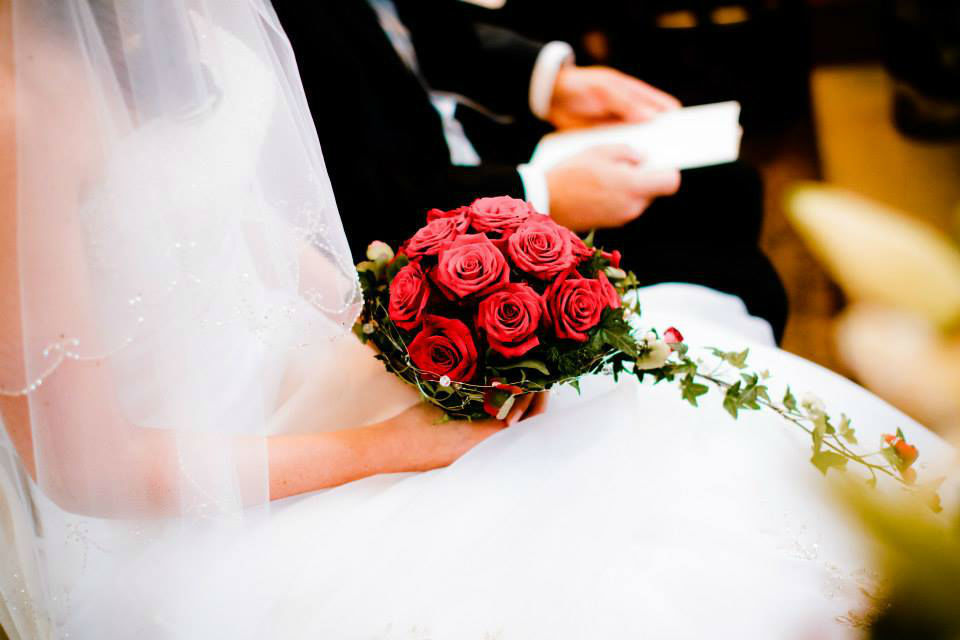Beispiel: Brautstrauß, Foto: Blumenhaus Wasser.