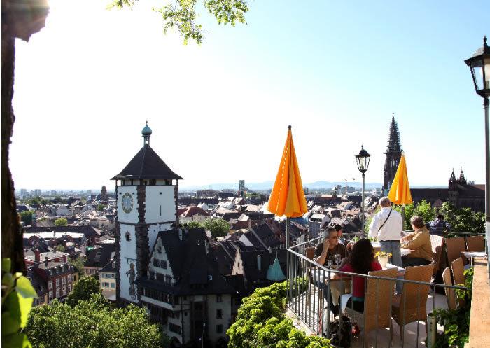 Beispiel: Terrasse mit Ausblick, Foto: Greiffenegg Schlössle.