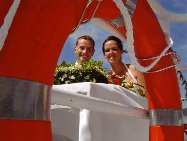Beispiel: Eine Hochzeit mit Wellengang, Foto: Mondsee Schifffahrt.