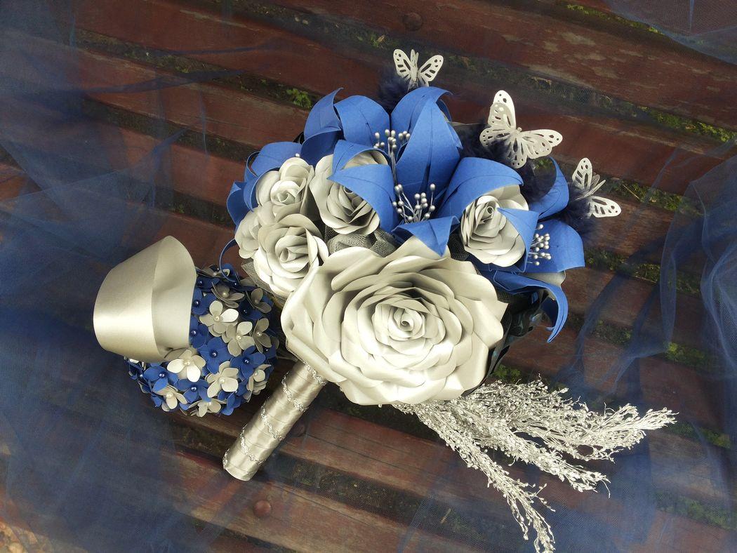 Ramo de novia Blue Glam (romántico y delicado)