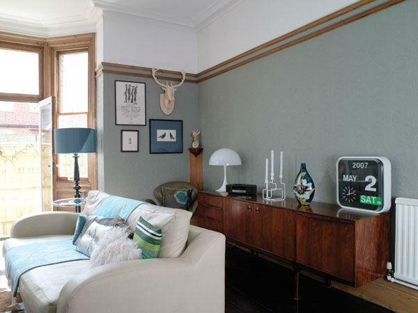 Inspiración decoración Farrow & Ball para living room. Sobrio y muy masculino.