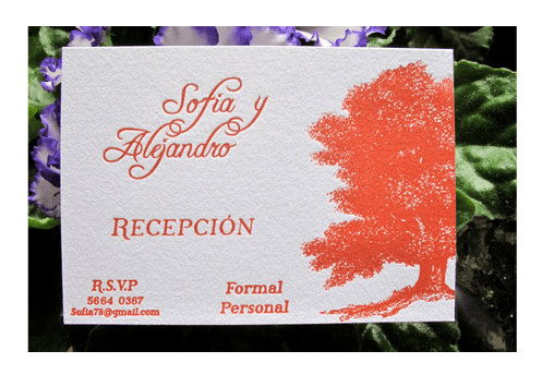 Abeja Roja Press, invitaciones para tu boda en Distrito Federal